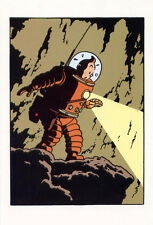 Adventures of Tintin•A Walk on the Moon•Art by Hergé•Color Postcard 4x6