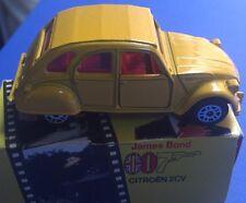 1981 Corgi For Your Eyes Only James Bond 007 Citroën 2CV 57198 Yellow Car