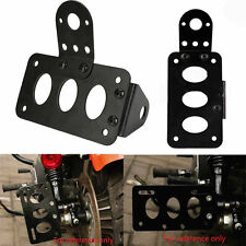 Side Mount Motorcycle License Plate Bracket Fit Harley Chopper Brake Tail Light