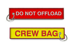 DO NOT OFFLOAD-CREW BAG TAG X2