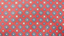 LANVIN MADE IN ITALY RED GRAY SMALL DIAMONDS SILK NECKTIE TIE MJA2216B #N13
