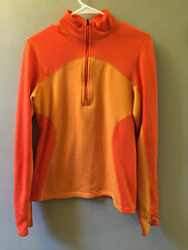 Patagonia common threads polyester orange pull over women's small sweatshirt