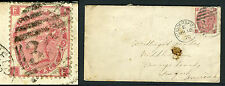 1867-80 3d Rose Plate 5 on envelope. Huddersfield to Orange County V65771