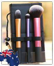REAL TECHNIQUES TRAVEL ESSENTIALS 3 Brush Makeup Kit! Fast&Free Post! AUTHENTIC