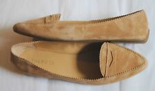 Talbots camel tan suede leather pointed to penny driving loafers size 9.5M