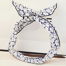 Women Girls Kids Daisy flower Bunny Ear Bow Wire BOHO Hair Head Band Headband