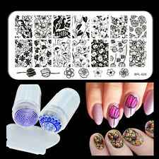 BORN PRETTY Nail Art Stamp Stamping Plate Flower Image Stamper Scraper Kit