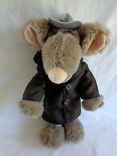 "Plush Touchables Cartoon Character YOU DIRTY RAT 13"" Detective Mouse 1987 VTG"
