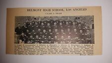 Belmont High School Los Angeles & Fairfax CA Class C 1928 Football Team Picture