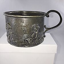 ANTIQUE QUEEN CITY SILVER Co. SILVER BABYS CUP from the 1850's
