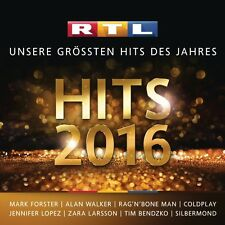 RTL HITS 2016 +Mark Forster,Alan Walker,Coldplay,Jennifer Lopez  2 CD NEU