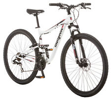 29 in Mongoose Men's Dual Suspension Mountain Bike Ledge 3.5, White