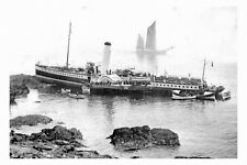 rp16970 - Paddle Steamer Cambria aground at Ilfracombe - photo 6x4