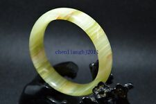 59mm Natural Chinese jade hand-carved bracelet,beautiful Pattern bangle