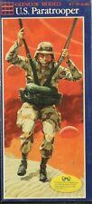 Glencoe Model 1:10 US Paratrooper Desert Storm Plastic Figure Model Kit #05902