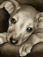 GREYHOUND PUPPY note cards by watercolor artist DJ Rogers