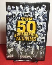 WWE: The Top 50 Superstars of All Time (DVD,2010,3-Disc Set) NEW - Free Shipping