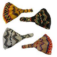 Soft Wide  Headband w/elastic Aztec Zig Zag Head Wrap for Women Four Styles!