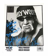 WWE WCW HULK HOGAN SIGNED PROMO PHOTO WITH COA FROM HULK HIMSELF 14
