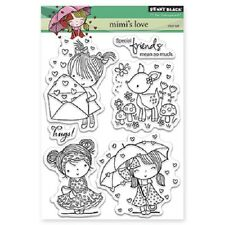 PENNY BLACK RUBBER STAMPS CLEAR MIMI'S LOVE STAMP SET NEW 2015
