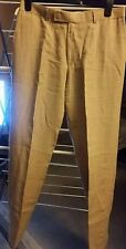 men's Hugo Boss beige linen trousers W36