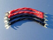 Lot 4 Canare 4S11 Star Quad Bi Wire Speaker Jumper Cables Spade to Spade (10AWG)