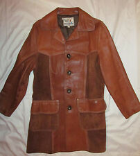 vtg 60s- 70's PIONEER WEAR suede and leather country western coat jacket 40