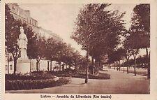 Portugal Lisboa - Avenida da Liberdade  old unused sepia postcard