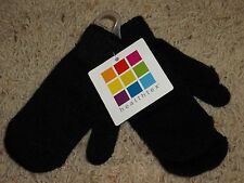 Healthtex Black Childs Infants Toddler Set Winter Gloves Mittens Knit One Size