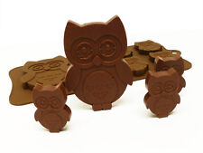 6+1 Owl Bird Hearts Chocolate Candy Cookie Silicone Bakeware Mould Cake Baking