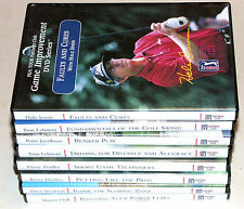 PGA GOLF TOUR Partners Club Game Improvement DVD Series lot of  8  Instructional