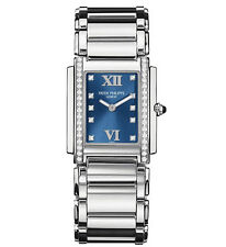 Patek Philippe 24 4910/10A-012  Stainless Steel Blue Diamond Dial 25x30 mm