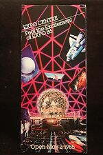 Worlds Fair Expo 1986 Vancouver, British Columbia Fold-Out Brochure NICE
