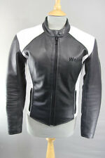 WEISE LEATHER BIKER JACKET WITH CE ARMOUR & QUILTED THERMAL LINING: SIZE 12