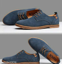 2017 Suede European style leather Shoes Men's oxfords Casual Multi Size Fashion-