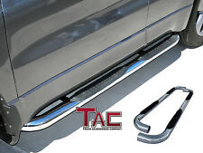 TAC 2002-2009 CHEVY TRAILBLAZER ALL Stainless Steel 3'' Side Bar Step Nerf  Bars