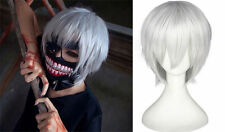 Tokyo Ghoul Kaneki Ken Short Silver White Straight Hair Wig for Cosplay Costume