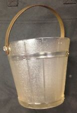 Vintage Antique Depression Era Glass Ice Bucket Silver Elegant Chic Plant holder