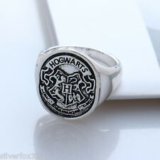 2016 Harry Potter HOGWARTS House Badge Deathly Hallows RING Men Women Steampunk