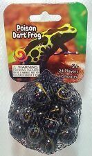 GLASS MEGA MARBLES *POISON DART FROG* 24 players +1 Shooter FREE SHIPPING!