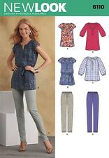 NEW LOOK SEWING PATTERN MISSES' TOP OR TUNIC & TROUSERS SIZE 10 - 22 6110