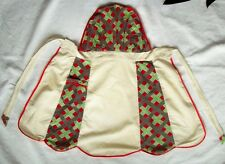 Muslin flour sack bib pin top vintage kitchen apron