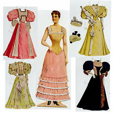 Miss Sophie victorianas anziehpuppe 33cm marcado fino reprint 1895 Paper Doll
