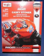 CASEY STONER DUCATI MOTO GP2007 1/18th MAISTO MODEL MOTORCYCLE