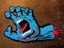 """DEVIL ZOMBIE MONSTER BONE HAND """"JUMBO SIZE"""" EMBROIDERY IRON ON PATCH BADGE"""
