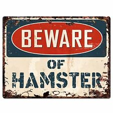 PP1423 Beware of HAMSTER Plate Rustic Chic Sign Home Store Wall Decor Funny Gift