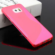 HOUSSE ETUI COQUE SILICONE GEL ROSE SAMSUNG GALAXY S6 EDGE PLUS
