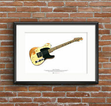 Jeff Beck's 1954 Fender Esquire guitar ART POSTER A2 size