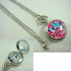 My Little Pony Women Ladies Girl Child Pink Fashion Pocket Watch Necklace +CHARM