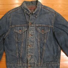 VINTAGE ORIGINAL LEVIS DENIM JACKET BIG E LOT : 71205 1968 SIZE 44 BLANKET